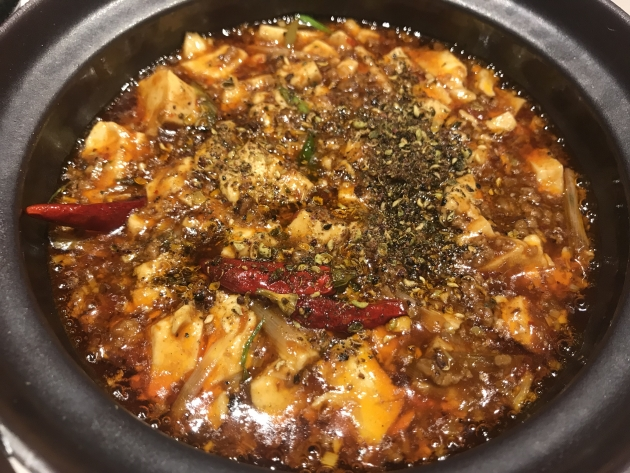 唐辛子の辛味と旨味の麻婆豆腐