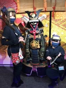甲冑を着て忍者ちゃんと写真が撮影できるイベント