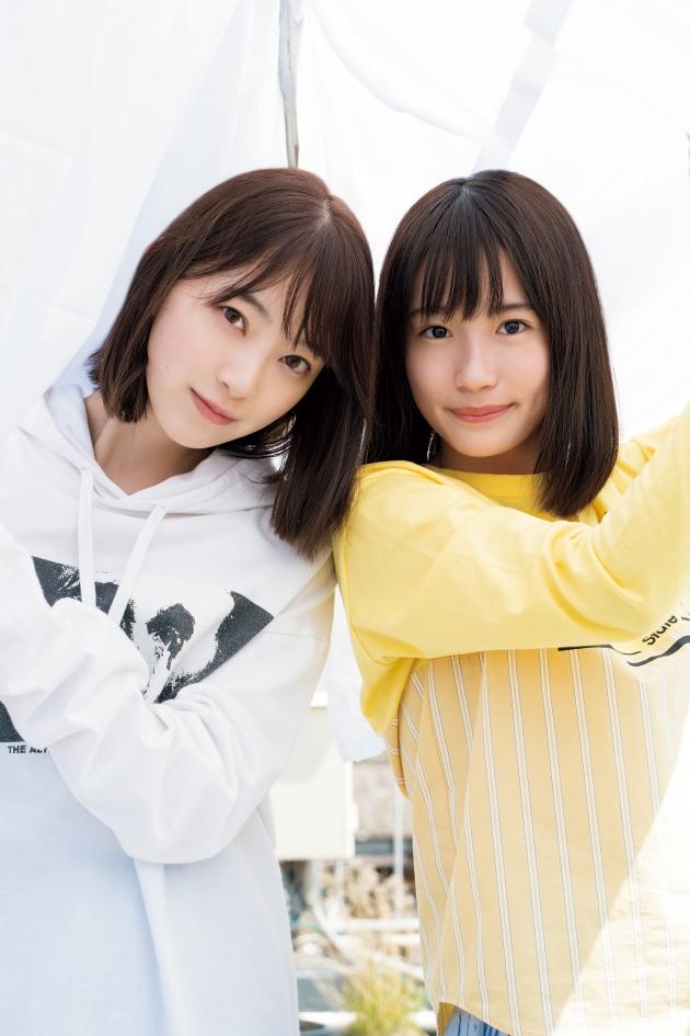 乃木坂46の堀未央奈(左)と掛橋沙耶香(右)