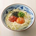 「丸亀製麺」/ 春日未来・最上静香・伊吹翼の3人をイメージしたうどん。