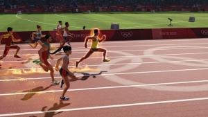 100m走のゲーム画面