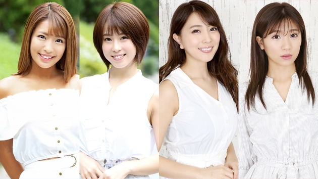 (左から)橋本梨奈、犬童美乃梨、森咲智美、葉月あや